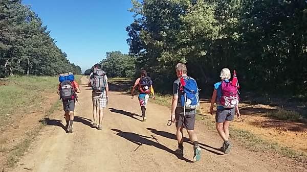 pellegrini durante il cammino di Santiago