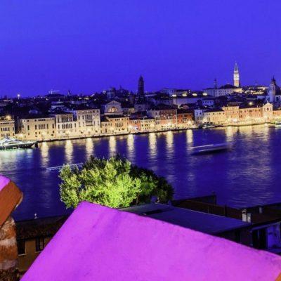 veduta di Venezia dal bar dell' hotel Hilton Molino Stucky di Venezia