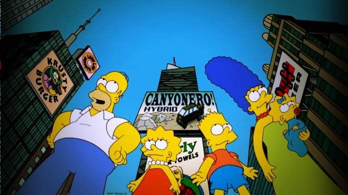 famiglia Simpson a New York