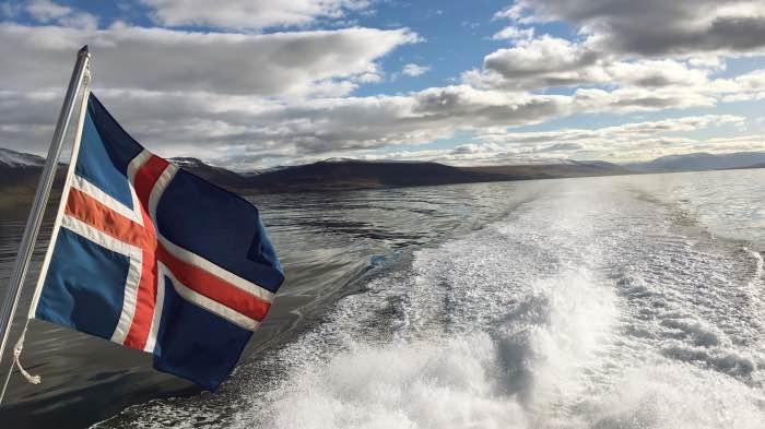 nave, bandiera, mare, ISLANDA