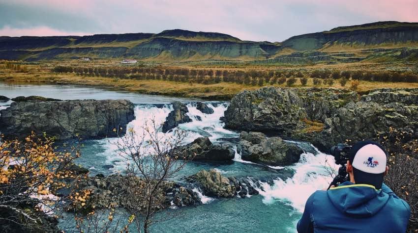 cascate, fotografo, Islanda