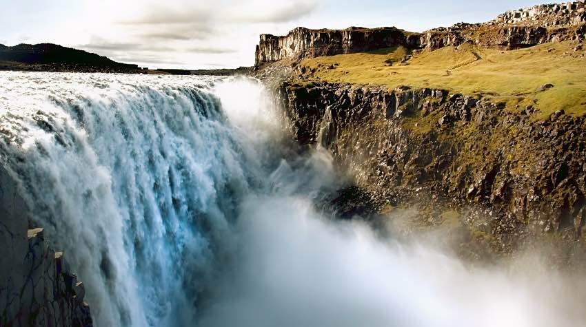 cascata, detriti, Islanda