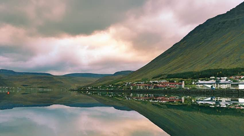 fiordo, montagne, mare, Islanda
