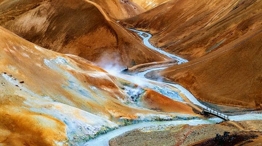 montagne, fiume, Islanda