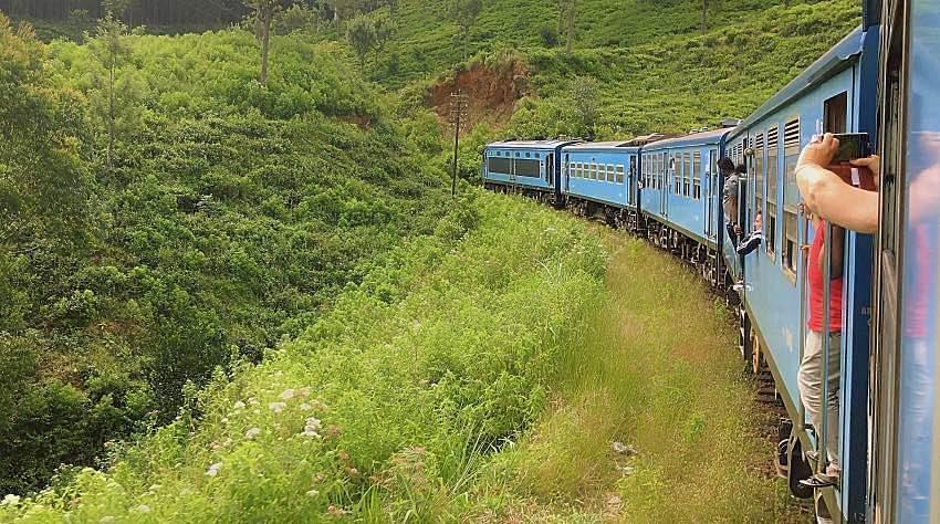treno Sri Lanka natura